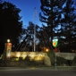East Lawn Memorial Parks Mortuaries & Crematory - Sacramento, CA. Front gate at Christmastime.