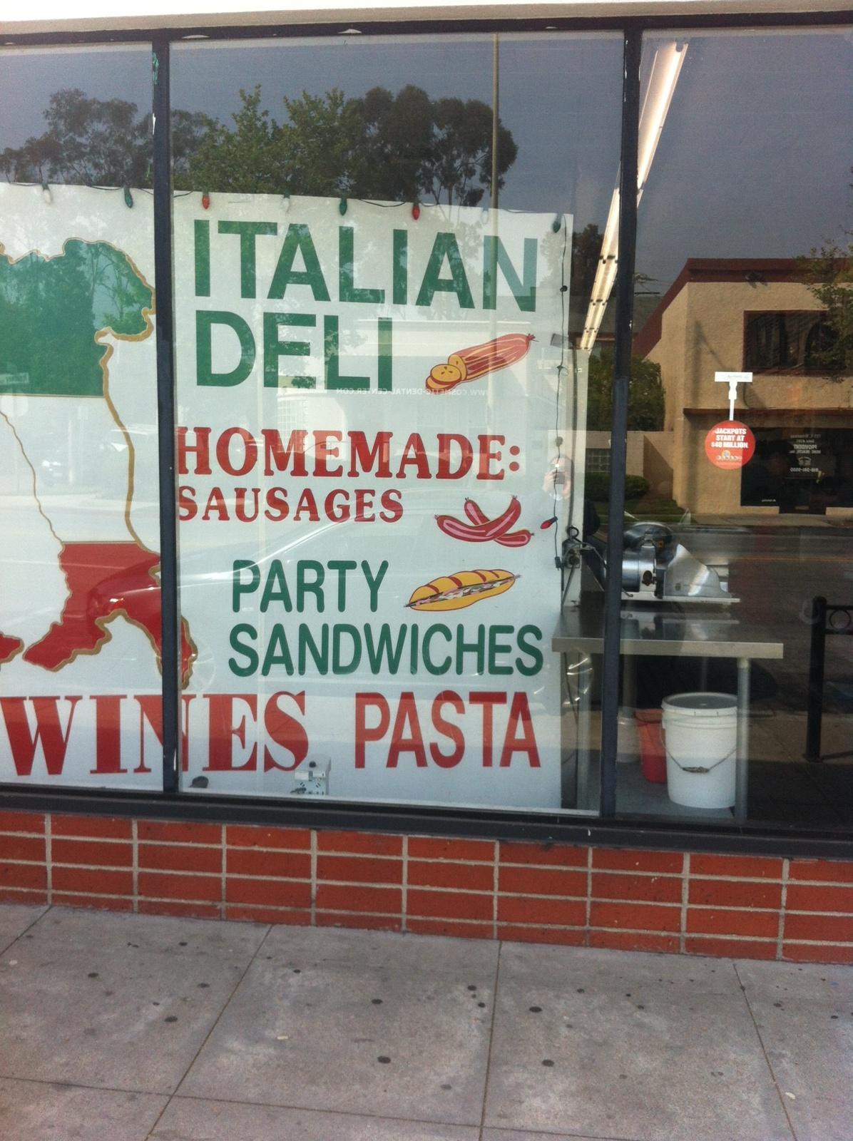 Mario's Italian Deli, Glendale CA