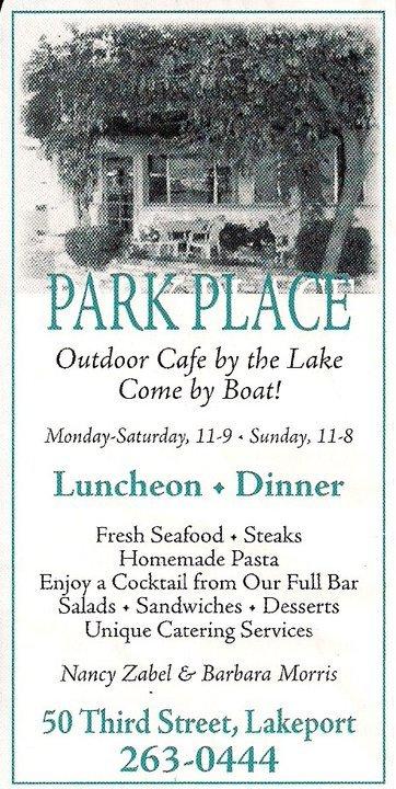 Park Place Restaurant, Lakeport CA