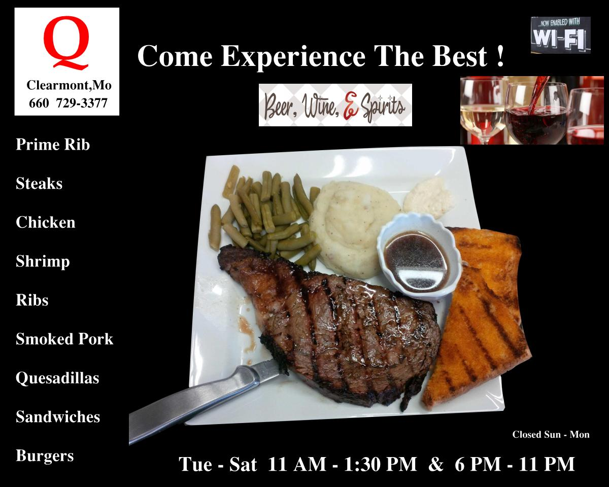The Q Restaurant, Clearmont MO