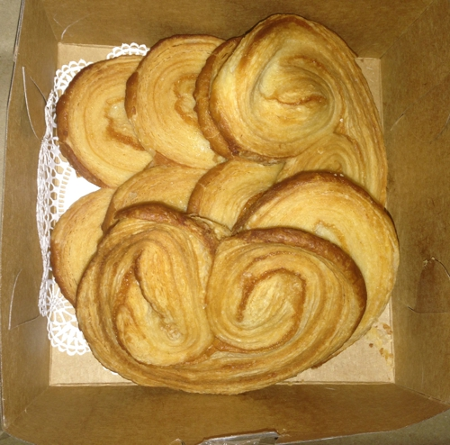 Croissan Time French Bakery - Fort Lauderdale, FL. Palmiers! Made with real butter/puff pastry. I request the browner ones.
