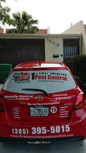 1st Solution Pest Control - Miami, FL. Company cars