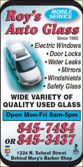 Roy's Auto Glass Shop Inc