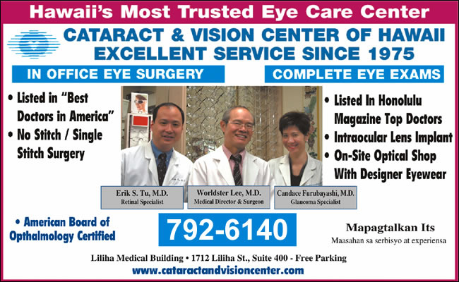 Cataract & Vision Center Of Hawaii