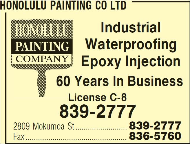 Honolulu Painting Co Ltd