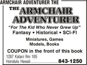 Armchair Adventurer The