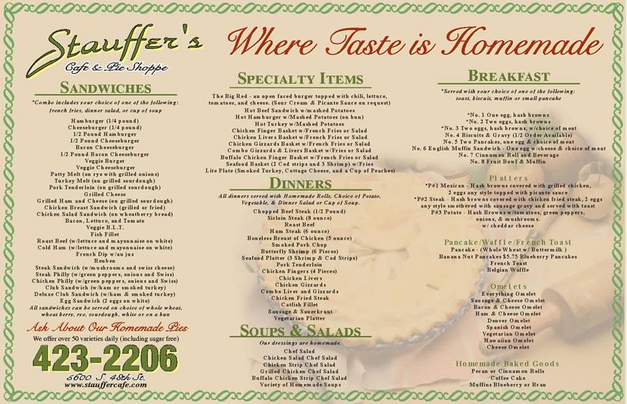 Stauffer's Cafe & Pie Shoppe