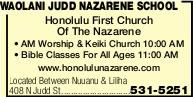 Waolani Judd Nazarene School