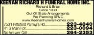 Keenan Richard H Funeral Home Inc