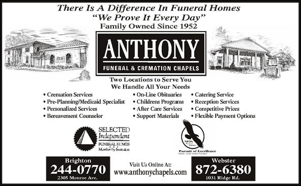 Anthony Funeral & Cremation Chapels