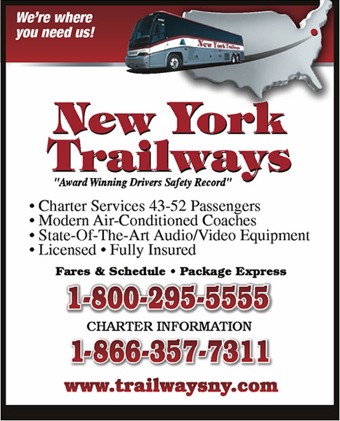 New York Trailways Fares & Schedules