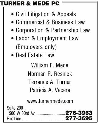 Turner & Mede PC
