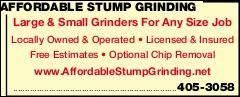 Affordable Stump Grinding