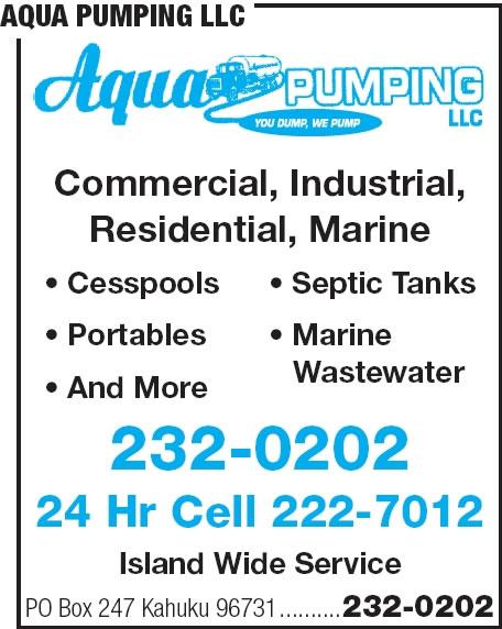 Aqua Pumping LLC