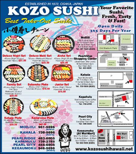 Kozo Sushi Kahala