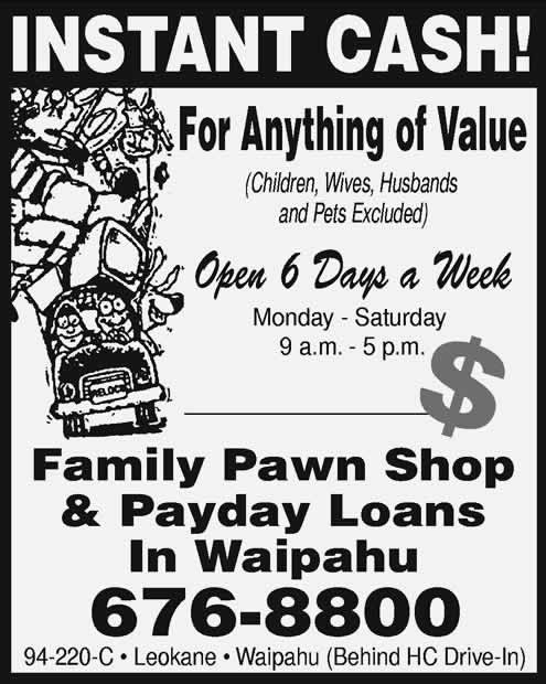 Family Pawn Shop In Waipahu