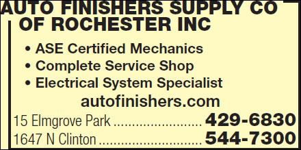 Auto Finishers Supply Co Of Rochester Inc