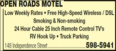 Open Roads Motel