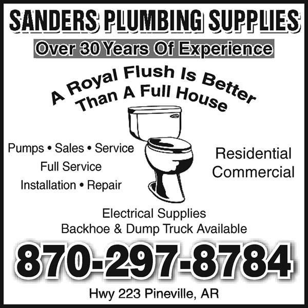 Sanders Plumbing Supplies