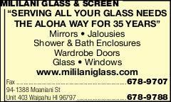 Mililani Glass & Screen