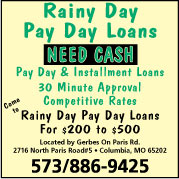 Rainy Day Pay Day Loans