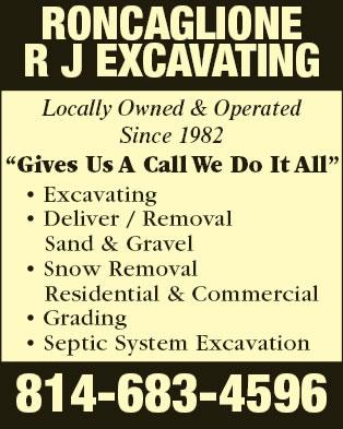 R J Roncaglione Excavating