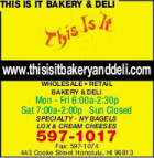 This Is It Bakery & Deli