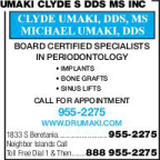 Umaki Clyde S DDS MS Inc
