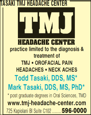 Tasaki TMJ Headache Center
