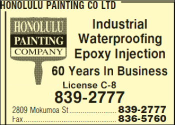 Honolulu Painting Co Ltd