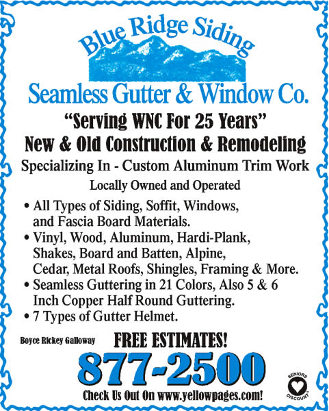 Blue Ridge Siding Seamless Gutters & Window Co