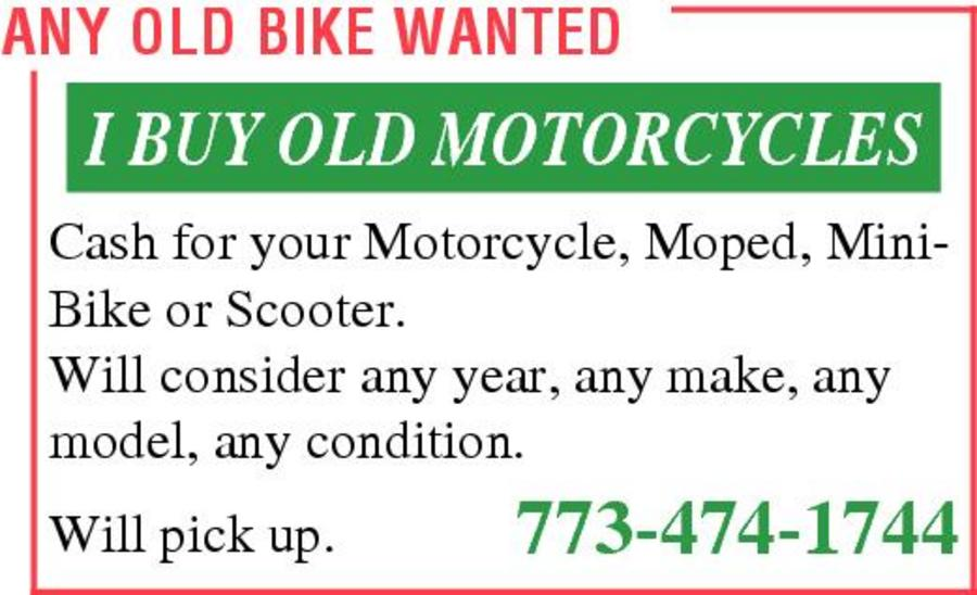 Any Old Bike Wanted