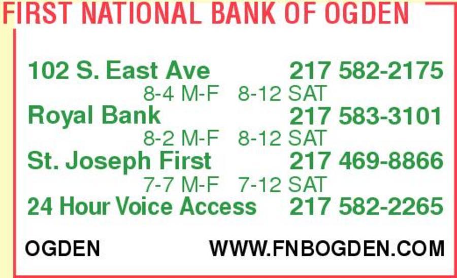 First National Bank Of Ogden