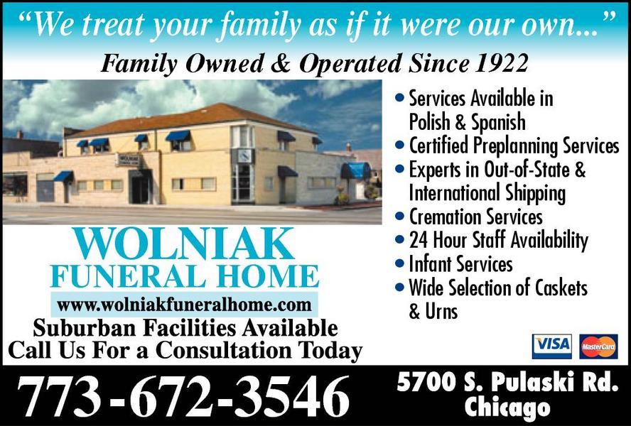 Wolniak Funeral Home Ltd