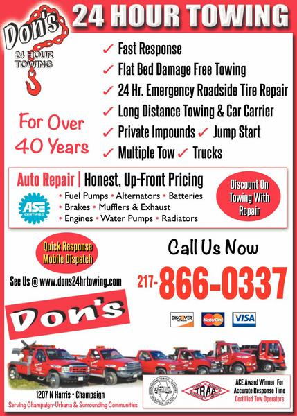 Don's 24-Hour Towing Recovery and Repair, Inc.