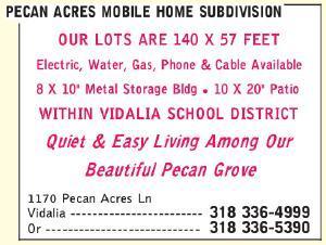 Pecan Acres Mobile Home Subdivision