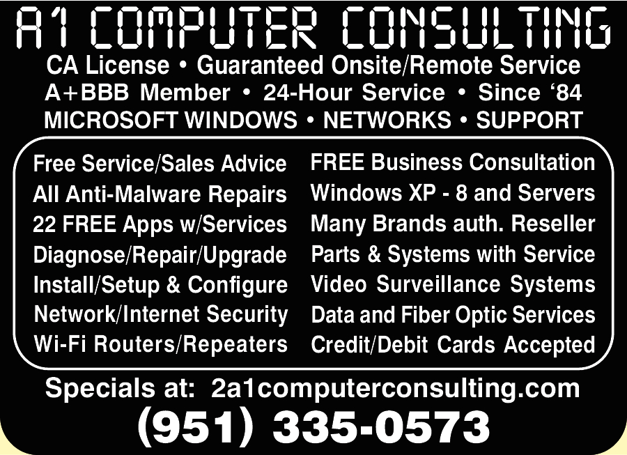 A1 Computer Consulting, Service & Sales