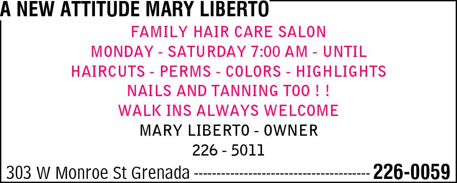 A New Attitude Mary Liberto