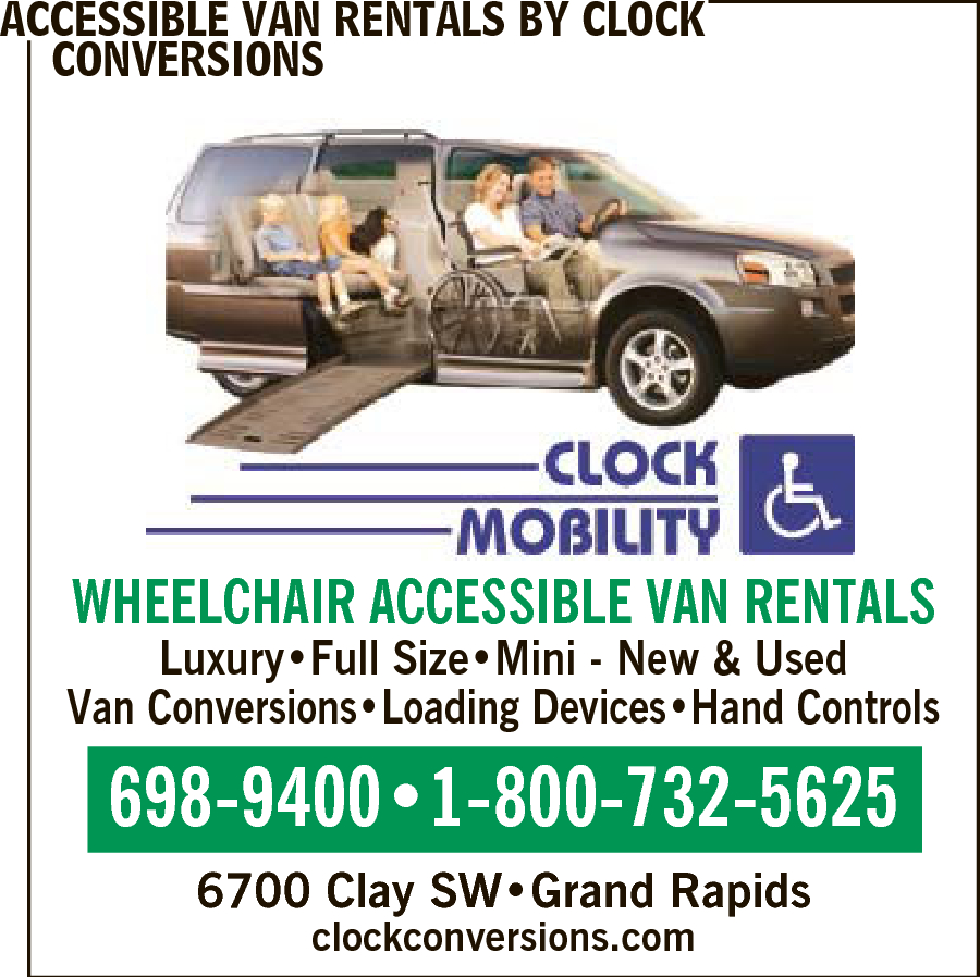 Clock Accessible Van Rentals