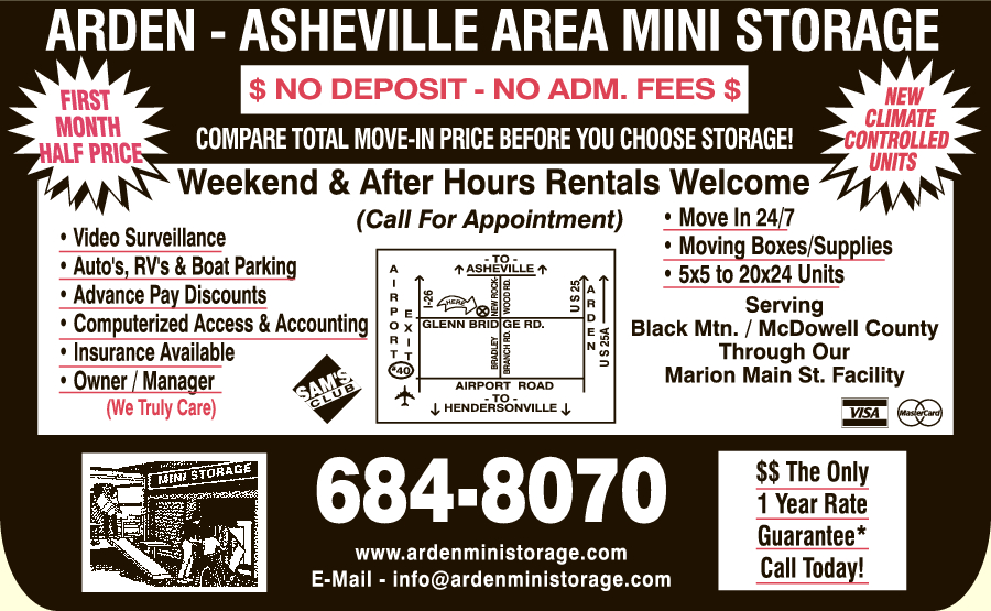 Arden-Asheville Area Mini Storage