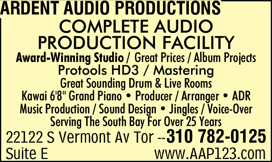 Ardent Audio Productions