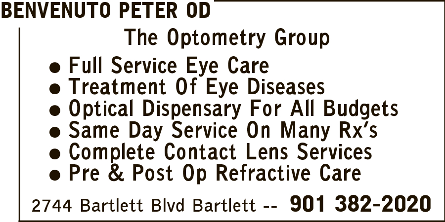 Benvenuto, Peter OD