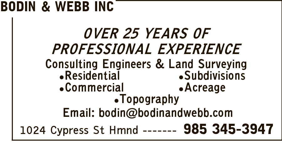 Bodin And Webb Inc Consulting Engineers