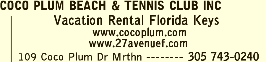 Cocoplum Beach Tennis Club & Marina