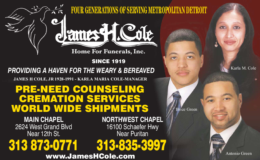Cole James H Home For Funerals Inc.