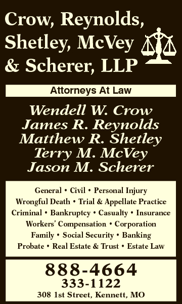 Crow, Reynolds, Shetley, McVey &amp; Scherer, LLP