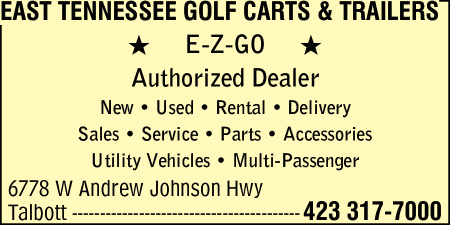 East Tn Golf Cart And Trailer
