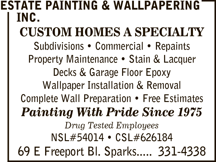 Estate Painting & Wallpapering Inc.