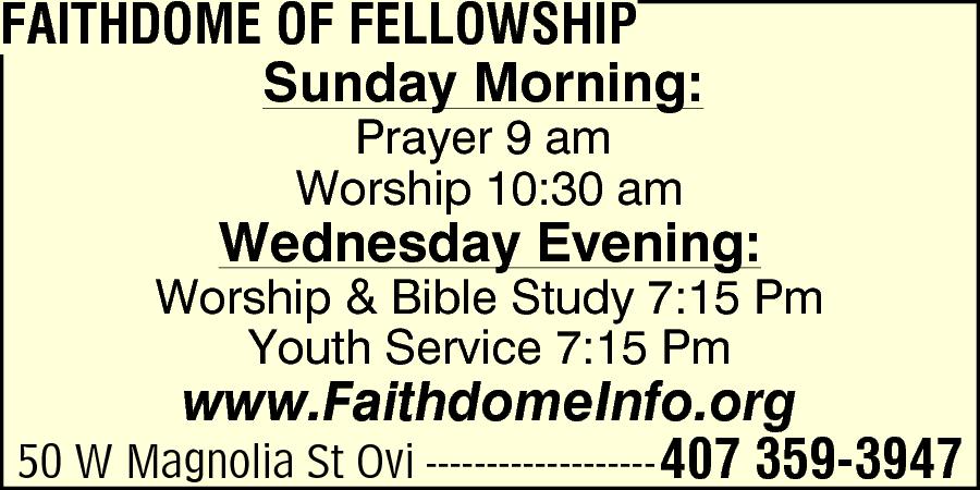 Faithdome Of Fellowship