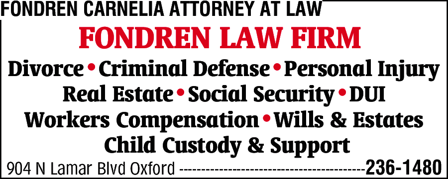 Fondren Carnelia Attorney At Law
